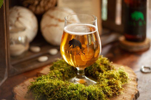 Verre de bière artisanale Ours - brasserie caquot